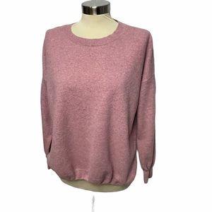 Eileen Fisher Pink Cashmere Crewneck Sweater S